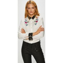 Silvian Heach - Koszula. Szare koszule damskie Silvian Heach, l, z haftami, z materiału, klasyczne, z włoskim kołnierzykiem, z długim rękawem. Za 389,90 zł.