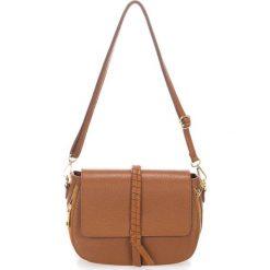 Torebki klasyczne damskie: Skórzana torebka w kolorze brązowym – 26 x 18 x 10 cm