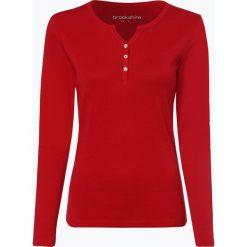 Brookshire - Damska koszulka z długim rękawem, czerwony. Czerwone t-shirty damskie brookshire, m, z bawełny, z kołnierzem typu henley. Za 99,95 zł.