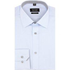 Koszula bexley 2662 długi rękaw slim fit niebieski. Niebieskie koszule męskie slim Recman, m, z długim rękawem. Za 139,00 zł.