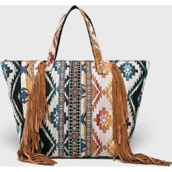 Answear - Torebka. Szare torebki klasyczne damskie ANSWEAR, z materiału, duże. Za 169,90 zł.