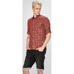 Tom Tailor Denim - Koszula. Szare koszule męskie na spinki marki S.Oliver, l, z bawełny, z włoskim kołnierzykiem, z długim rękawem. W wyprzedaży za 99,90 zł.