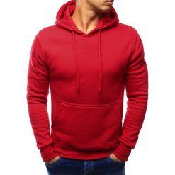 Bluzy męskie: Bluza męska z kapturem czerwona (bx3020)
