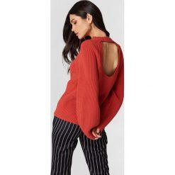 Swetry damskie: Filippa K Sweter bawełniany Sculptural – Orange