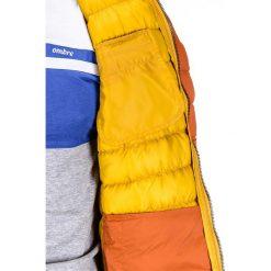 KURTKA MĘSKA PRZEJŚCIOWA PIKOWANA C292 - POMARAŃCZOWY. Brązowe kurtki męskie pikowane Ombre Clothing, m, z nylonu, eleganckie. Za 79,00 zł.