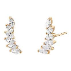 Biżuteria i zegarki: Złote Kolczyki – złoto żółte 375, Cyrkonia
