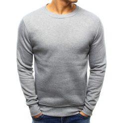 Bluzy męskie: Bluza męska gładka szara (bx3354)