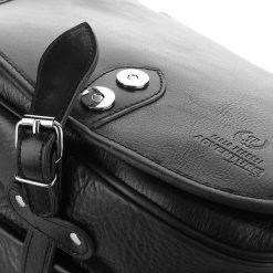 Ekskluzywna skórzana czarna Torebka damska PAOLO PERUZZI. Czarne torebki klasyczne damskie Paolo Peruzzi, w paski. Za 429,00 zł.