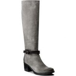 Kozaki CARINII - B4173 J51-E50-POL-861. Szare buty zimowe damskie marki Carinii, z nubiku. W wyprzedaży za 299,00 zł.