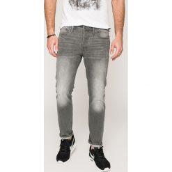 Jack & Jones - Jeansy. Czarne jeansy męskie relaxed fit marki Jack & Jones, l, z bawełny, z okrągłym kołnierzem. W wyprzedaży za 99,90 zł.