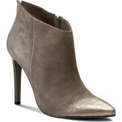 Botki CARINII - B3220 I41-000-PSK-A49. Szare buty zimowe damskie Carinii, z materiału, na obcasie. W wyprzedaży za 239,00 zł.