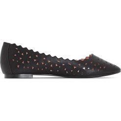 Baleriny damskie ażurowe: Ażurowe baleriny na szeroką stopę 38-45