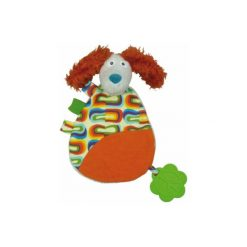 Ebulobo  Happy Farm - Przytulanka/szmacianka Piesek Antoine. Brązowe przytulanki i maskotki marki Ebulobo. Za 62,00 zł.