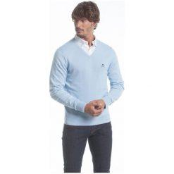 Polo Club C.H..A Sweter Męski M Jasnoniebieski. Szare swetry klasyczne męskie marki Polo Club C.H..A, m, dekolt w kształcie v. W wyprzedaży za 259,00 zł.
