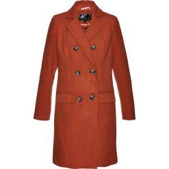 Płaszcz żakietowy bonprix rdzawobrązowy. Brązowe płaszcze damskie bonprix. Za 189,99 zł.