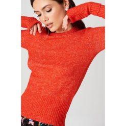 MbyM Sweter Ballerina Forever - Orange. Pomarańczowe swetry klasyczne damskie marki mbyM, z dzianiny. W wyprzedaży za 97,18 zł.