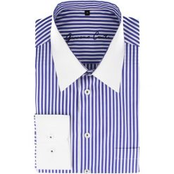 Koszula ARMANDO slim 14-09-22. Białe koszule męskie na spinki Giacomo Conti, m, w paski, z bawełny, z klasycznym kołnierzykiem. Za 229,00 zł.