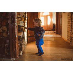 Odzież chłopięca: Wiosenne spodnie baggy chabrowe + suwak