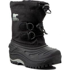 Buty zimowe chłopięce: Śniegowce SOREL – Childrens Super Trooper NC 1887-011 Black/Light Grey