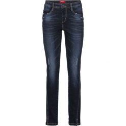 """Dżinsy """"authentik-stretch"""", krótsze nogawki SLIM bonprix ciemnoniebieski. Niebieskie jeansy damskie slim marki Sinsay, z podwyższonym stanem. Za 89,99 zł."""
