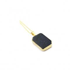 Naszyjnik Noc Kairu Geometryczny złoto. Niebieskie naszyjniki damskie Brazi druse jewelry, na co dzień, pozłacane. Za 170,00 zł.