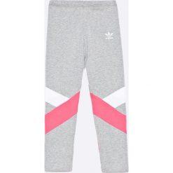Adidas Originals - Legginsy dziecięce 128-170 cm. Brązowe legginsy dziewczęce marki adidas Originals, z bawełny. W wyprzedaży za 99,90 zł.
