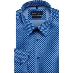 Koszula SIMONE slim KDNR000406. Niebieskie koszule męskie na spinki Giacomo Conti, m, z bawełny, z klasycznym kołnierzykiem, z długim rękawem. Za 169,00 zł.