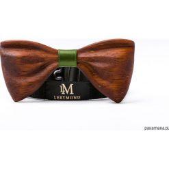 Drewniana mucha PAPILIO merbau. Szare muchy męskie marki Mayoral, l, z bawełny, z klasycznym kołnierzykiem. Za 390,00 zł.