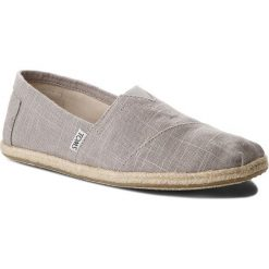 Tomsy damskie: Espadryle TOMS – Classic 10008381 Grey Linen/Rope Sole