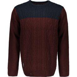 """Swetry klasyczne męskie: Sweter """"Koby"""" w kolorze bordowo-granatowym"""