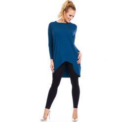 Tunika z długimi rękawami Lori Angora. Niebieskie tuniki damskie z długim rękawem Astratex, z elastanu, z okrągłym kołnierzem. Za 107,99 zł.