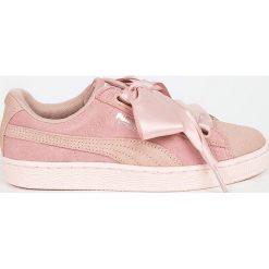 Puma - Buty Suede Heart Pebble Wn;s. Czerwone buty sportowe damskie marki Puma, xl, z materiału. W wyprzedaży za 269,90 zł.