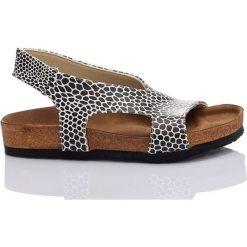Rzymianki damskie: Sandały w kolorze biało-czarnym