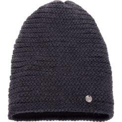 Czapki damskie: Szara prążkowana czapka QUIOSQUE