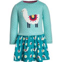 Sukienki dziewczęce z falbanami: Frugi BABY HETTY HOTCH POTCH DRESS Sukienka z dżerseju turquoise