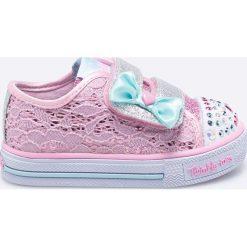 Skechers - Tenisówki dziecięce. Różowe buty sportowe dziewczęce marki Skechers, z materiału. W wyprzedaży za 169,90 zł.