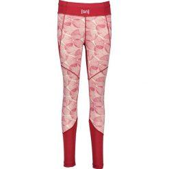 Legginsy sportowe damskie: Sportowe legginsy w kolorze czerwono-białym