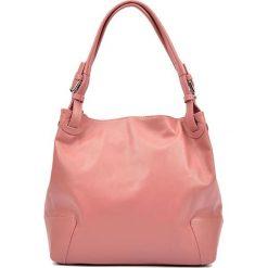 Torebki klasyczne damskie: Skórzana torebka w kolorze różowym – (S)22,5 x (W)34 x (G)8,5 cm