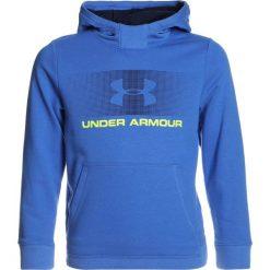 Under Armour FRENCH TERRY HOODY Bluza z kapturem mediterranean. Niebieskie bluzy chłopięce rozpinane marki Under Armour, z bawełny, z kapturem. Za 189,00 zł.