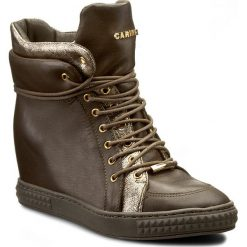 Sneakersy CARINII - B3733/N I45-I43-PSK-B88. Zielone sneakersy damskie Carinii, ze skóry. W wyprzedaży za 229,00 zł.
