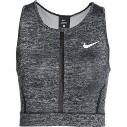 Nike Performance TANK Koszulka sportowa black/heather/black/white. Czarne topy sportowe damskie marki Nike Performance, l, z materiału, outdoorowe. W wyprzedaży za 125,30 zł.