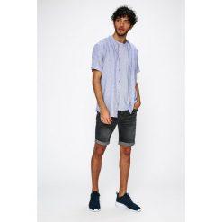 Medicine - Koszula Traveller. Szare koszule męskie na spinki marki MEDICINE, l, z bawełny, ze stójką, z krótkim rękawem. W wyprzedaży za 59,90 zł.
