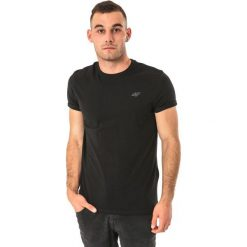 4f Koszulka męska czarna r. M (H4Z17-TSM001). Szare koszulki sportowe męskie marki 4f, l, z elastanu, z dekoltem w łódkę. Za 25,99 zł.