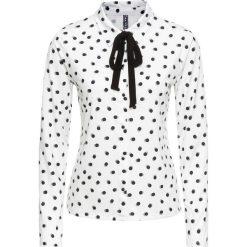Bluzki damskie: Bluzka shirtowa bonprix biało-czarny w kropki