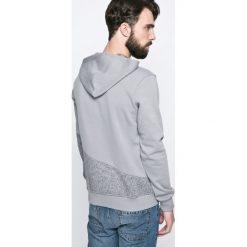 Jack & Jones - Bluza. Czarne bluzy męskie rozpinane marki Jack & Jones, l, z bawełny, z okrągłym kołnierzem. W wyprzedaży za 99,90 zł.