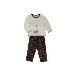 MOONLINE Girls Mini Dwuczęściowa piżama LOTTA offwhite. Białe bielizna chłopięca marki Reserved, l. Za 29,50 zł.