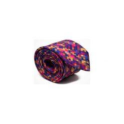 KRAWAT SUMMER FLOWER PIXEL. Brązowe krawaty męskie marki Marthu, w kolorowe wzory, z satyny. Za 129,00 zł.