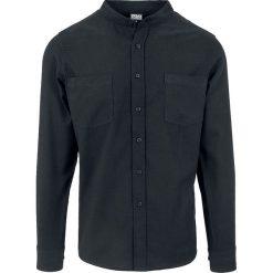 Urban Classics Low Collar Flanell Shirt Koszula czarny. Czarne koszule męskie na spinki marki Urban Classics, s, z materiału, z koszulowym kołnierzykiem, z długim rękawem. Za 79,90 zł.