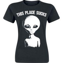 Bluzki asymetryczne: Goodie Two Sleeves This Place Sucks Koszulka damska czarny
