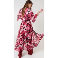 NA-KD Trend Szyfonowa sukienka płaszczowa - Pink,Multicolor - 2